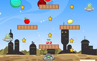 UFO gathers fruit